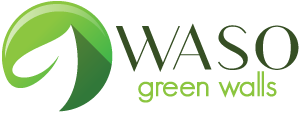 Logotipo de Waso Green Walls